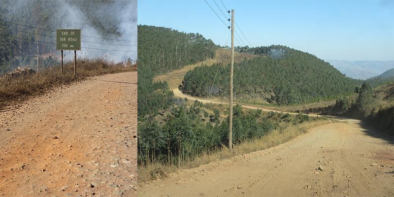 Gravelwegen Zuid-Afrika