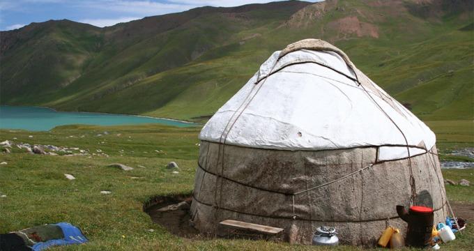 Slapen bij nomaden in Kyrgyzstan