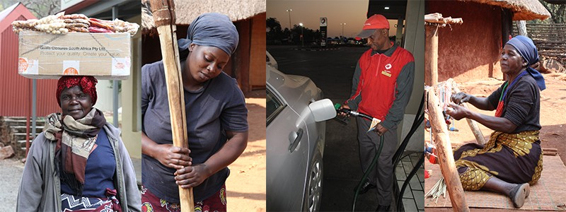 slechtbetaalde baantjes Zuid-Afrka