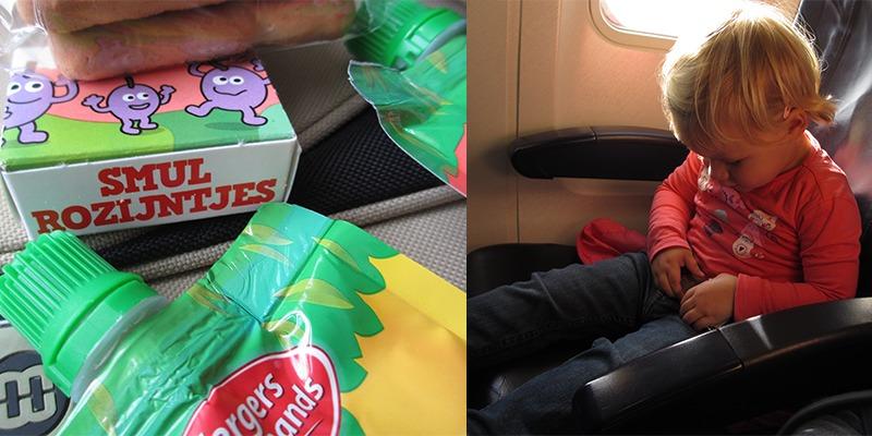 Snacks mee aan boord als je gaat vliegen met kinderen