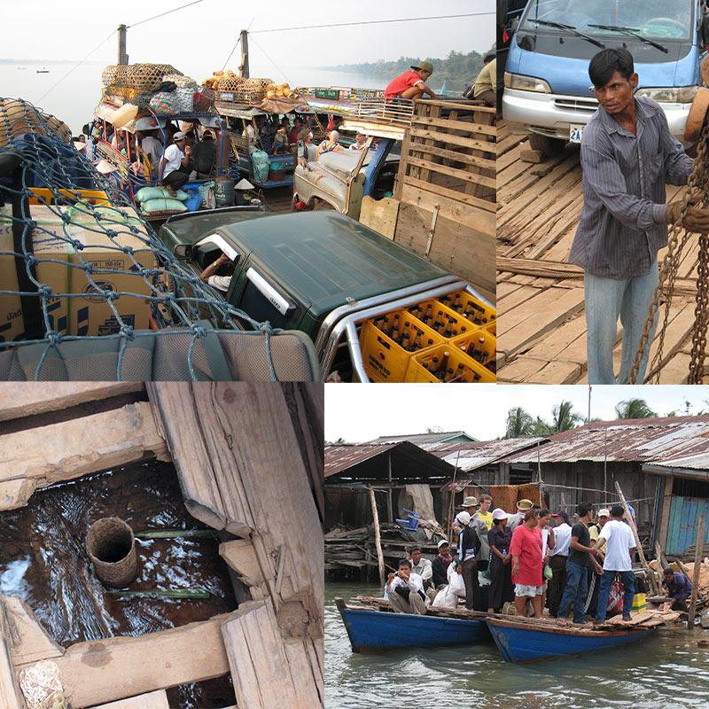 Cambodja - Laos veerboten