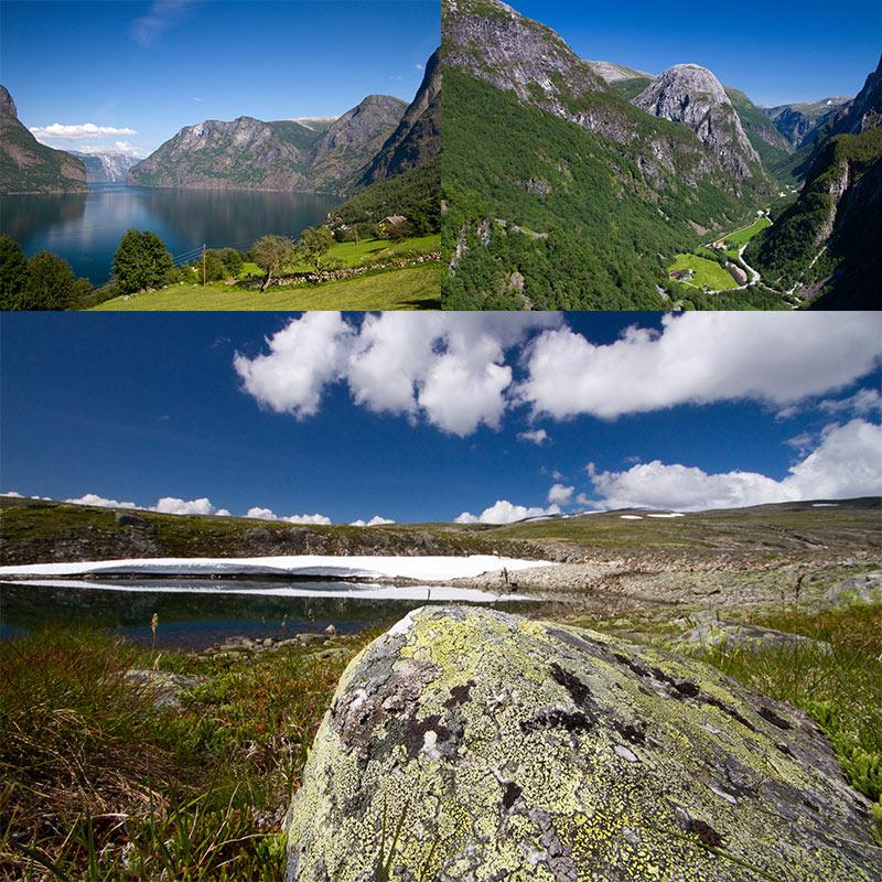 Naeroyfjord Noorwegen