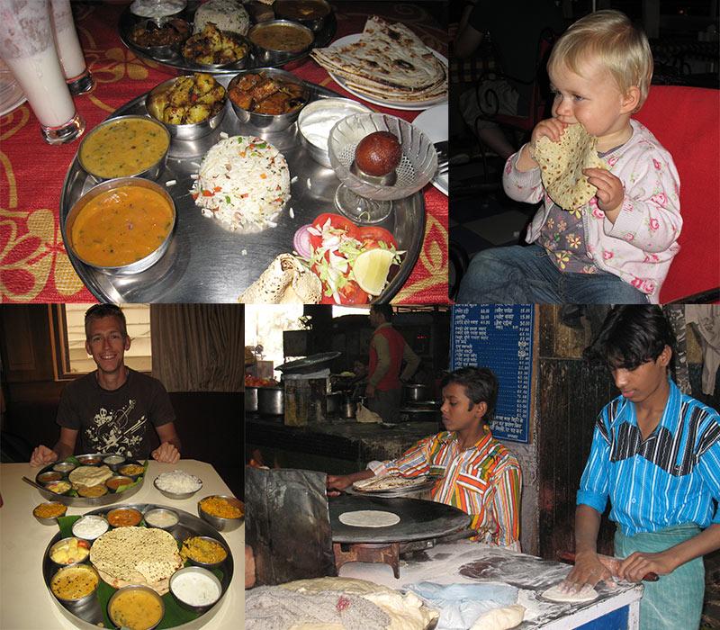 eten met kinderen in India