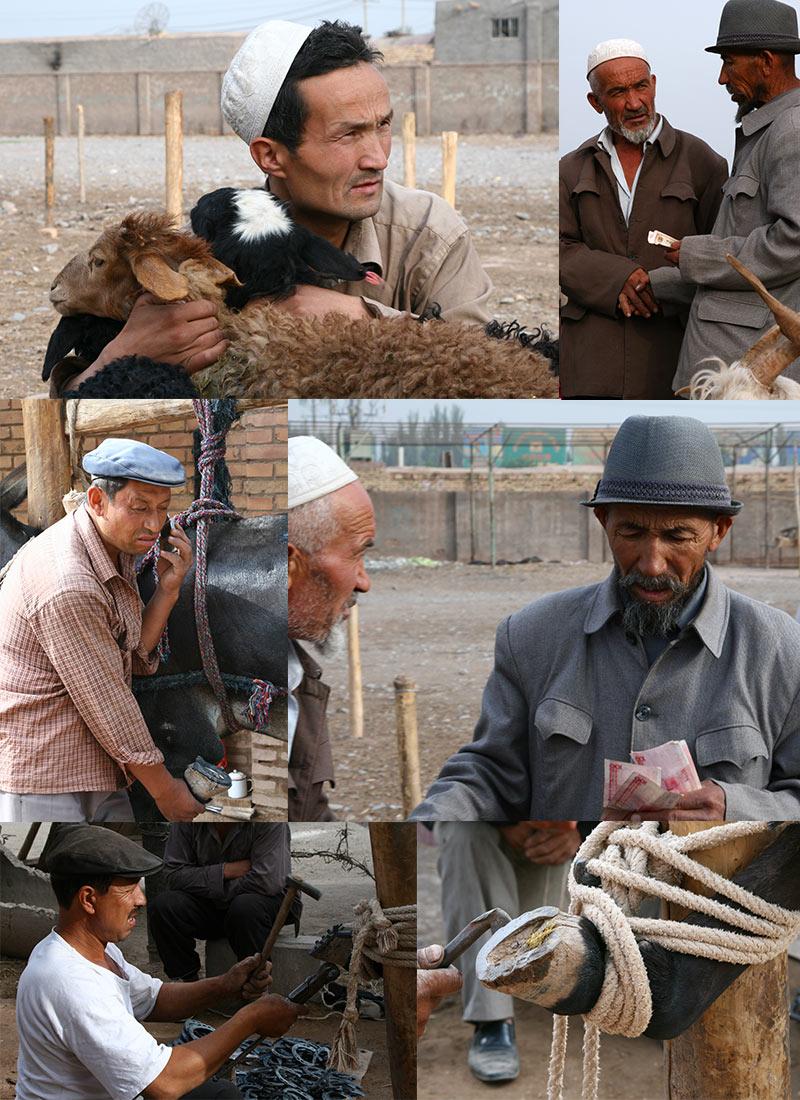 Reisfoto's Veemarkt Kashgar