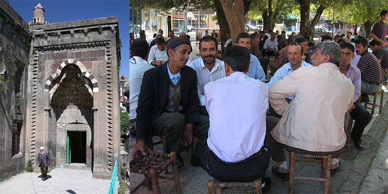 Mannen drinken thee Oost Turkije