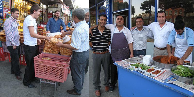 Mannen bepalen straatbeeld Oost-Turkije