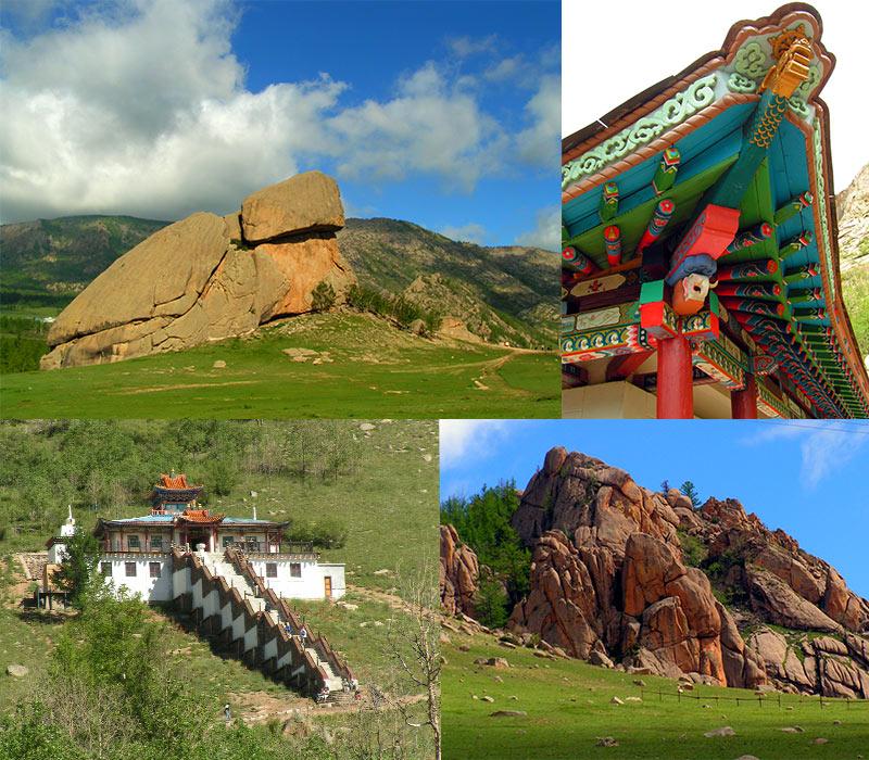 Terelj Turtle Rock en Klooster