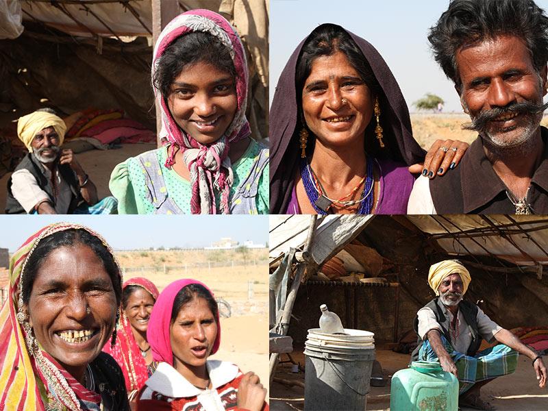 gypsy village bij Pushkar