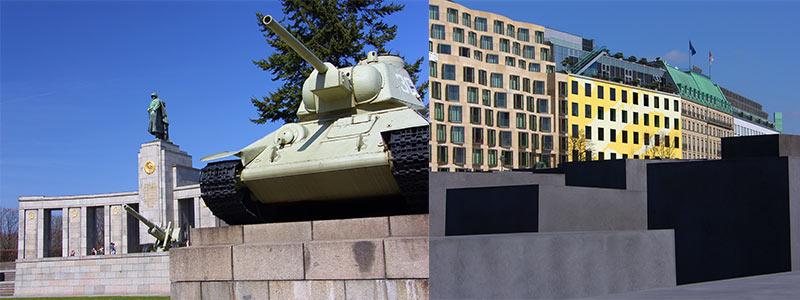 Sovjet monument en holocaust monument Berlijn