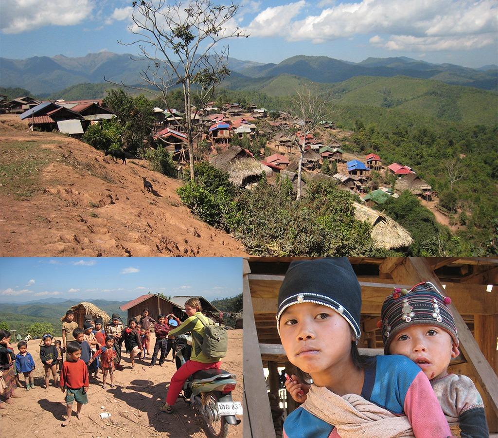 Akha dorp Phouvarn in Noord Laos
