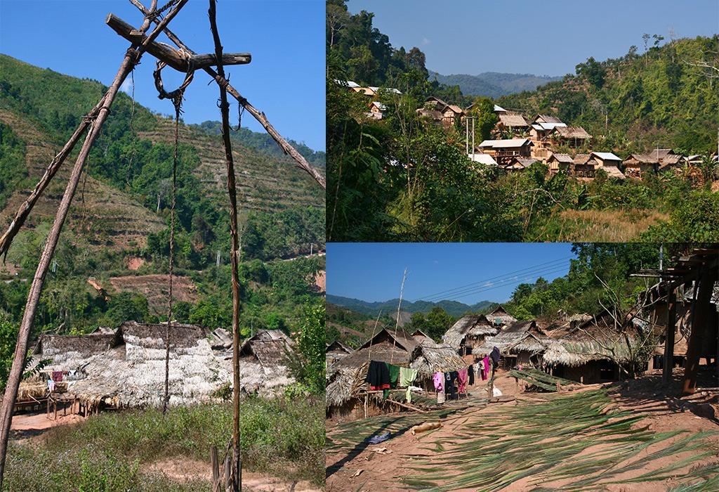 Akha dorpje ten Noorden van Luang Namtha