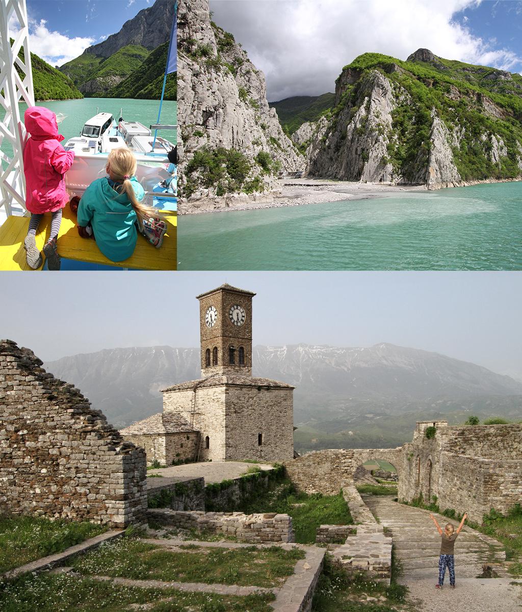 Albanië met kinderen - Koman ferry en kastelen