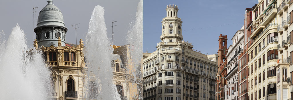 Plaza Ayuntamiento Valencia Art Nouveau
