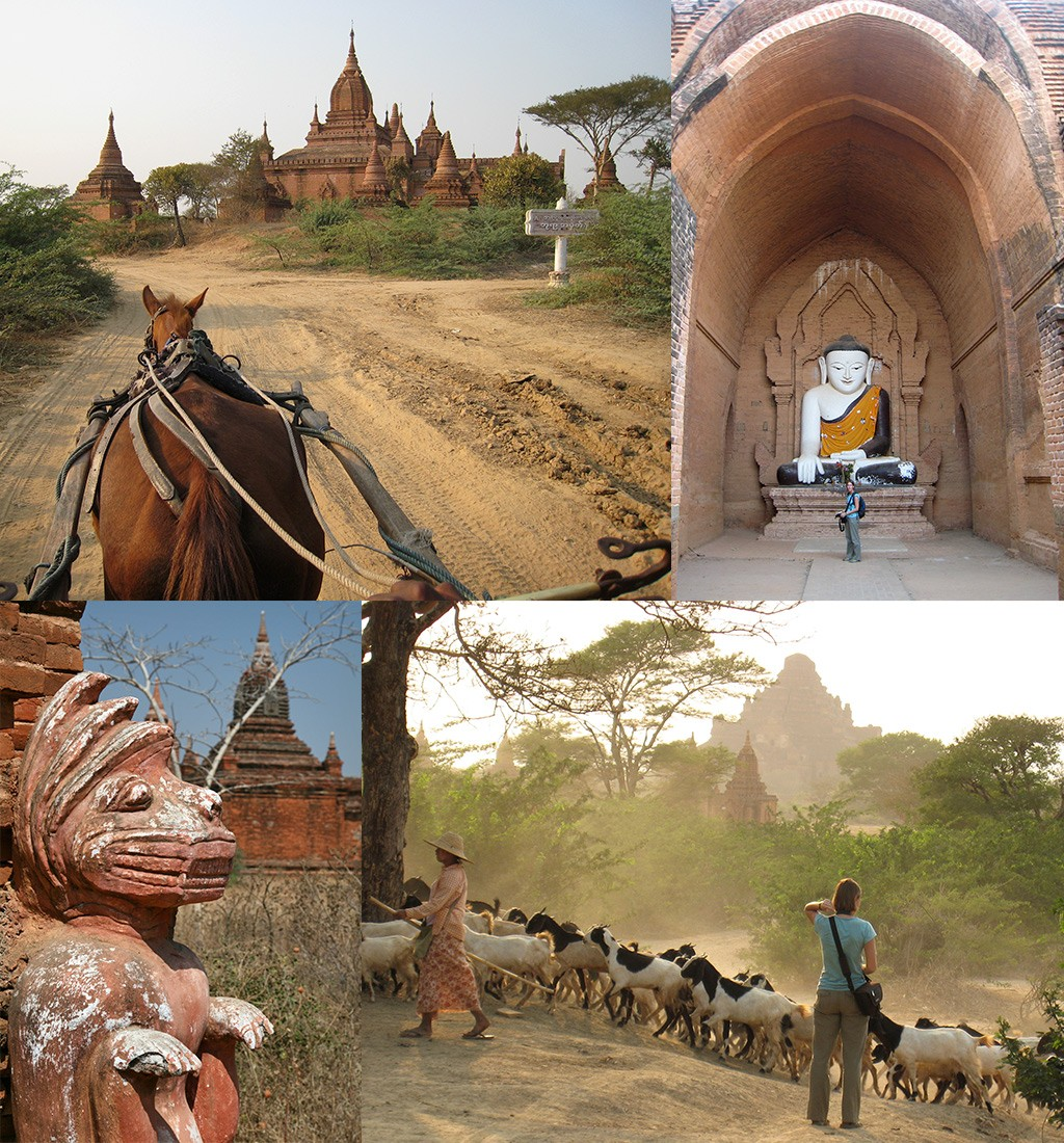 route Myanmar - Bagan paard en wagen