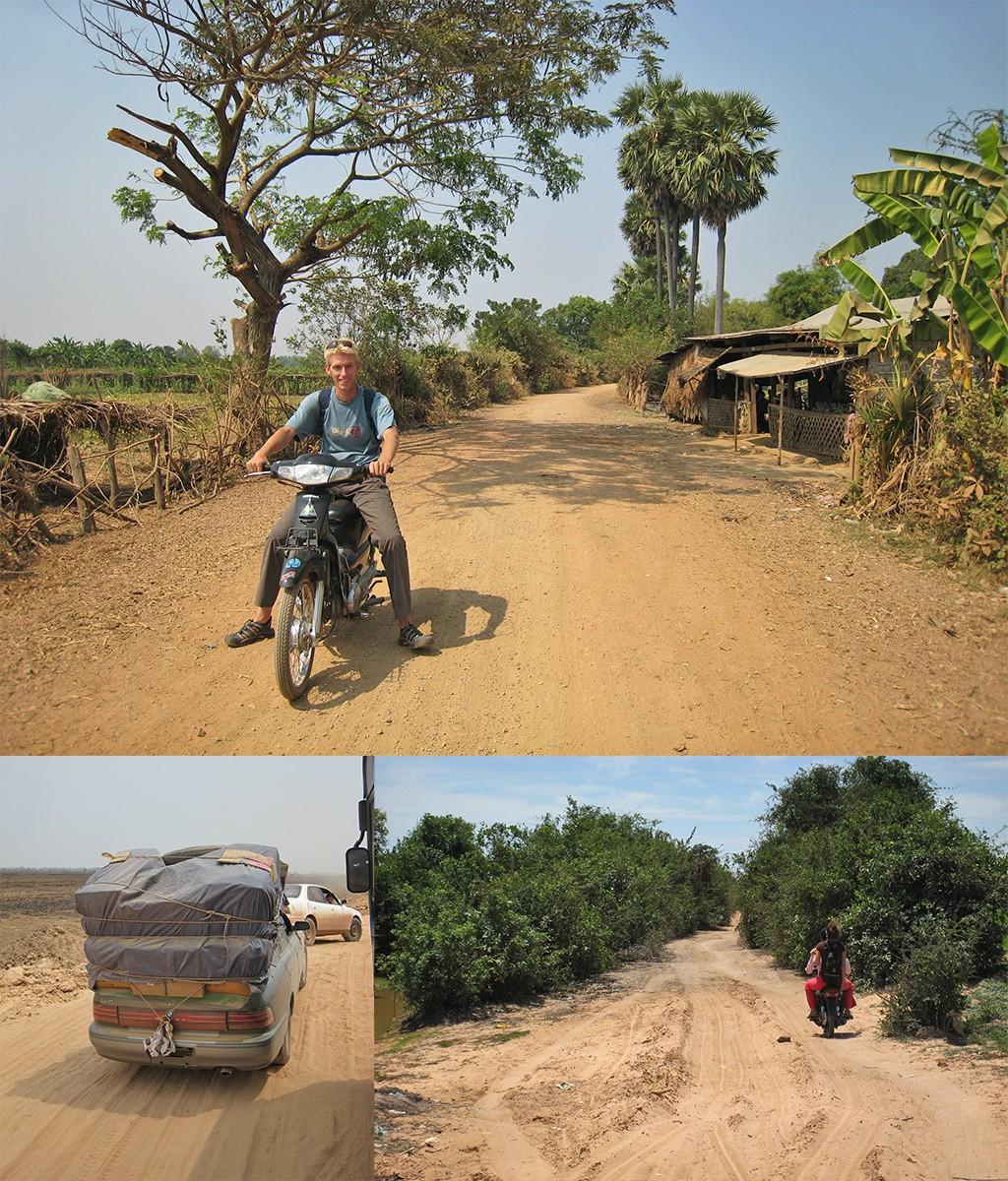 Battambang op de motorbike