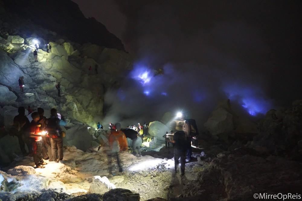 Bizarre bezienswaardigheden Ijen vulkaan Java Indonesië
