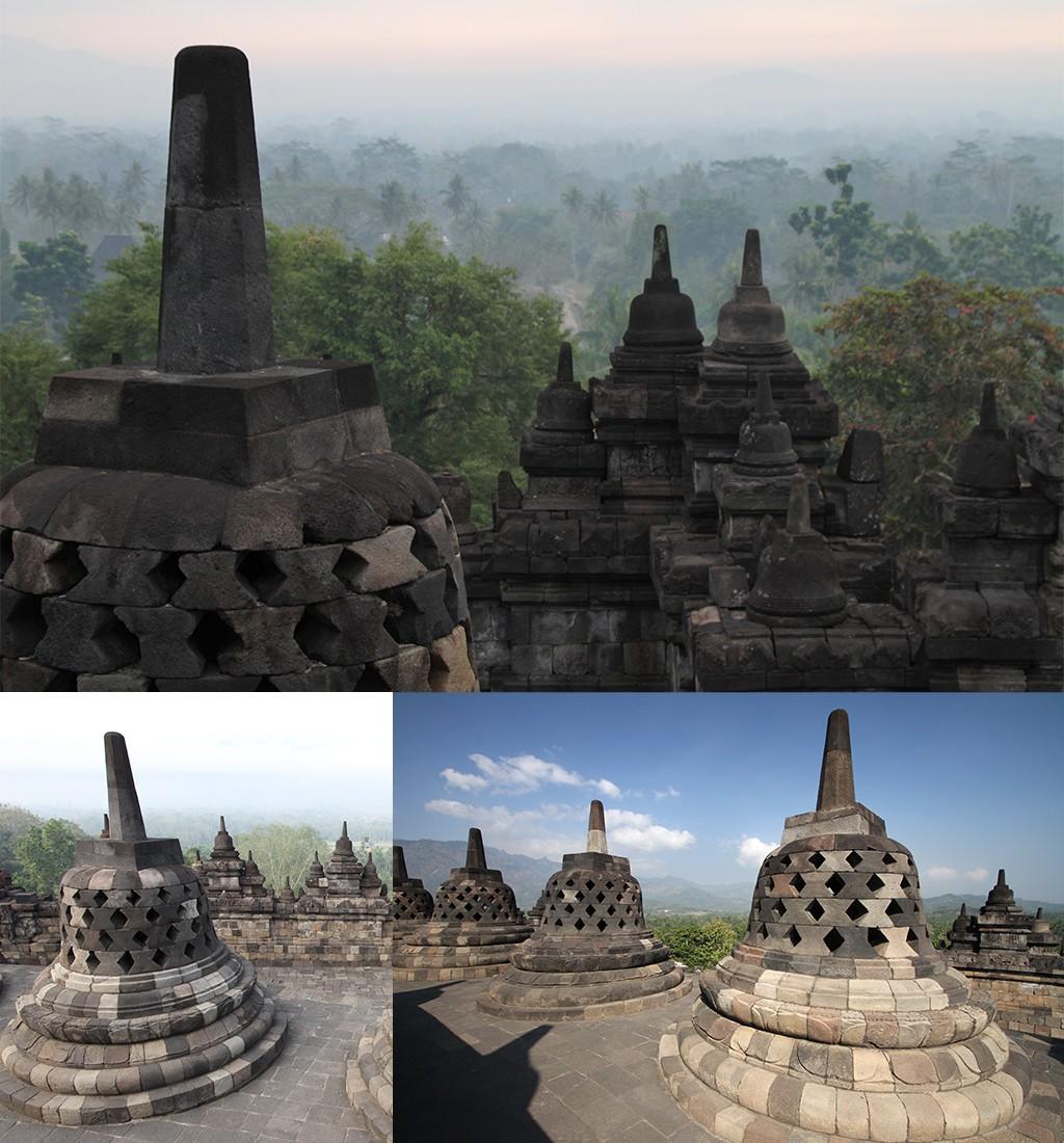 Borobudur Zonsopkomst en daarna