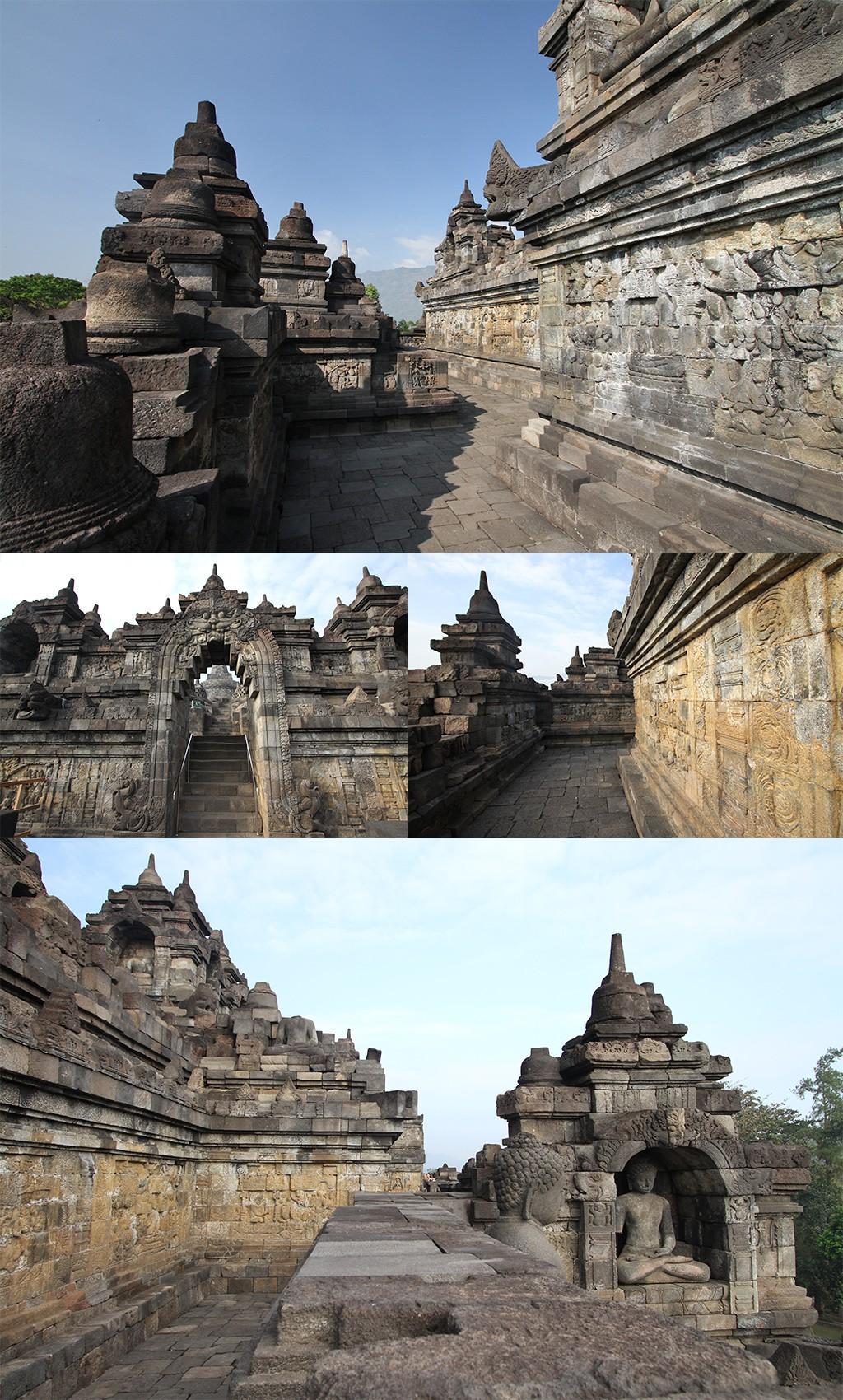 Borobudur na zonsopkomst verkennen