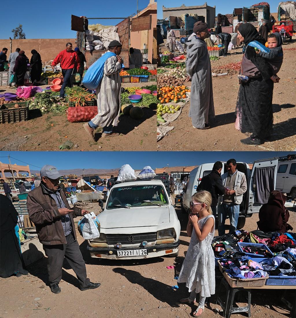 Boumalne weekmarkt bezoeken voor Dades-kloof