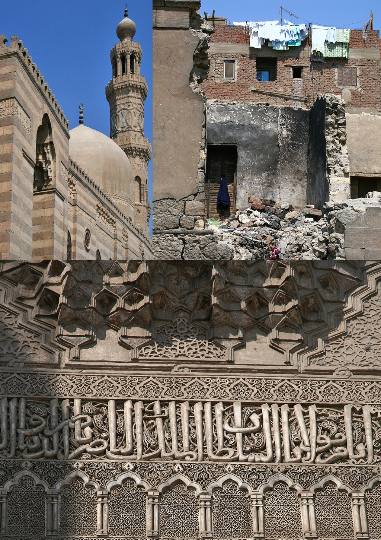 Caïro moskeeën en huizen