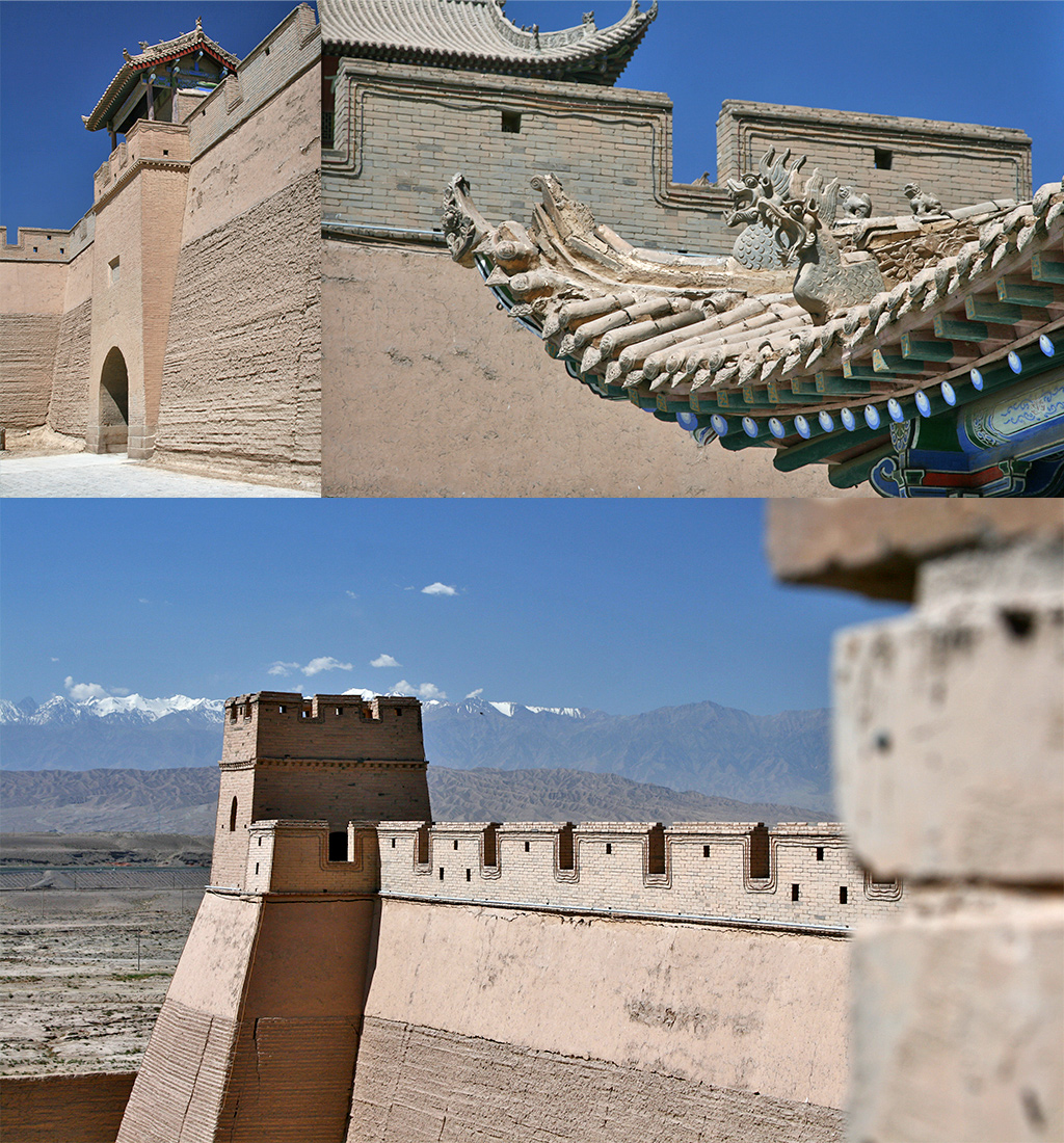 Chinese muur - Jiayuguan fort