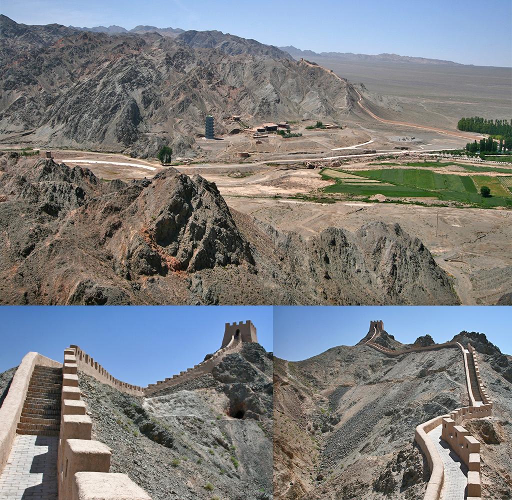 Chinese muur - Jiayuguan overhanging wall