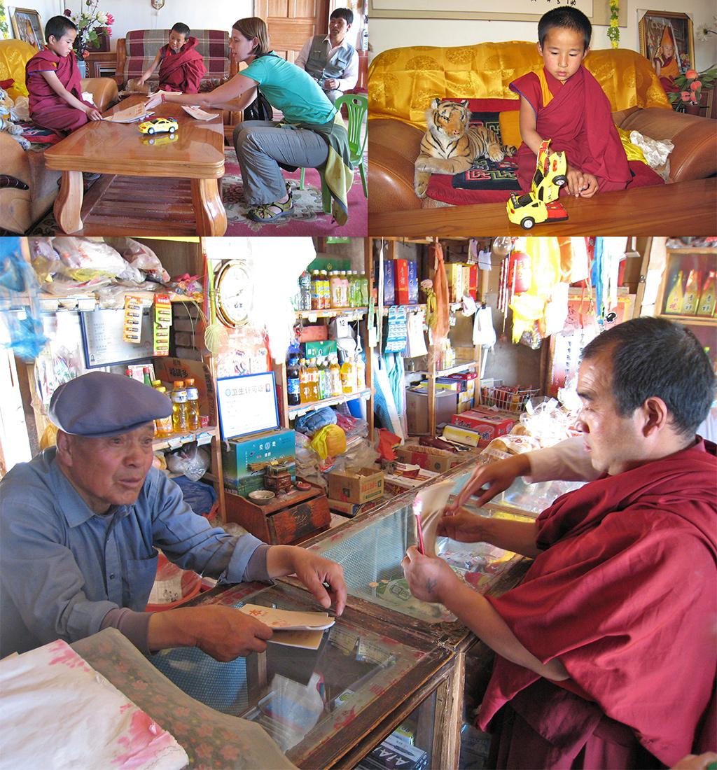 De lokale middenstand steunen en een zogenaamde Dalai Lama bezoeken