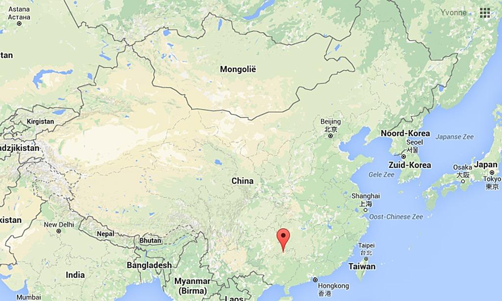 Dong en Miao China kaart