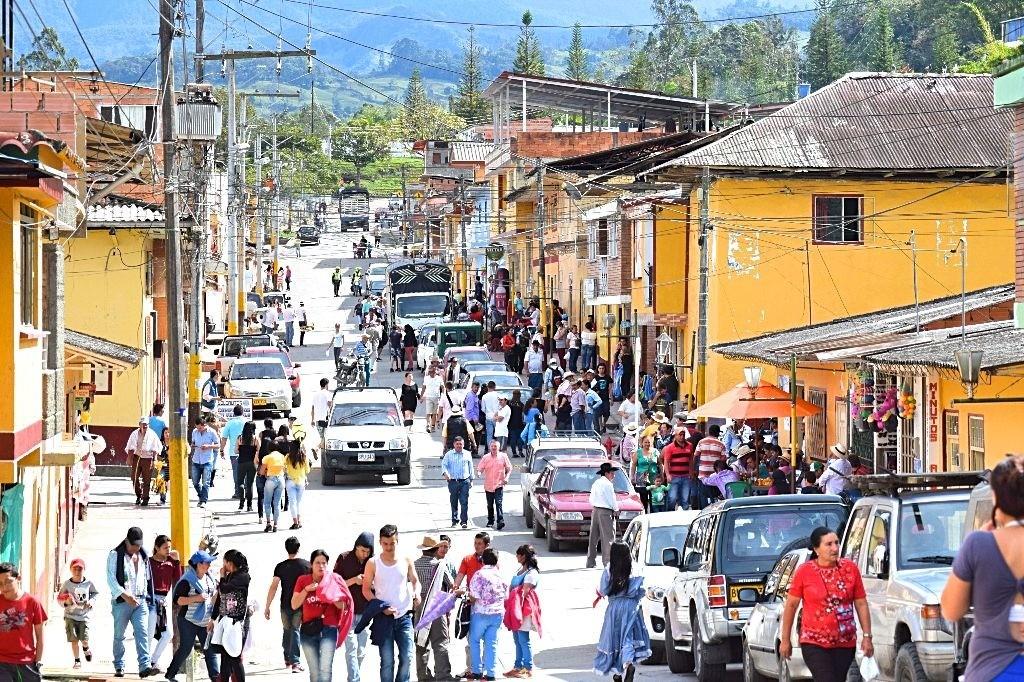 Dorpje Gachalá Colombia