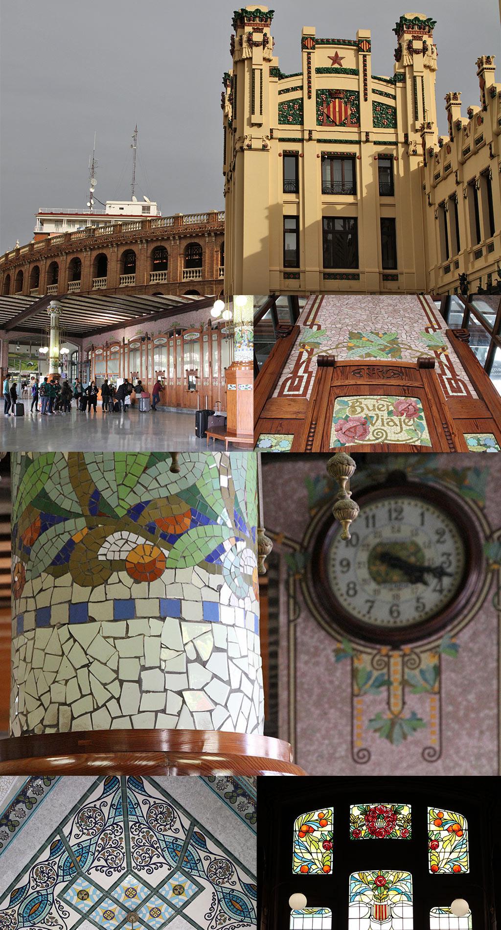 Art Nouveau Valencia Estation du Nord