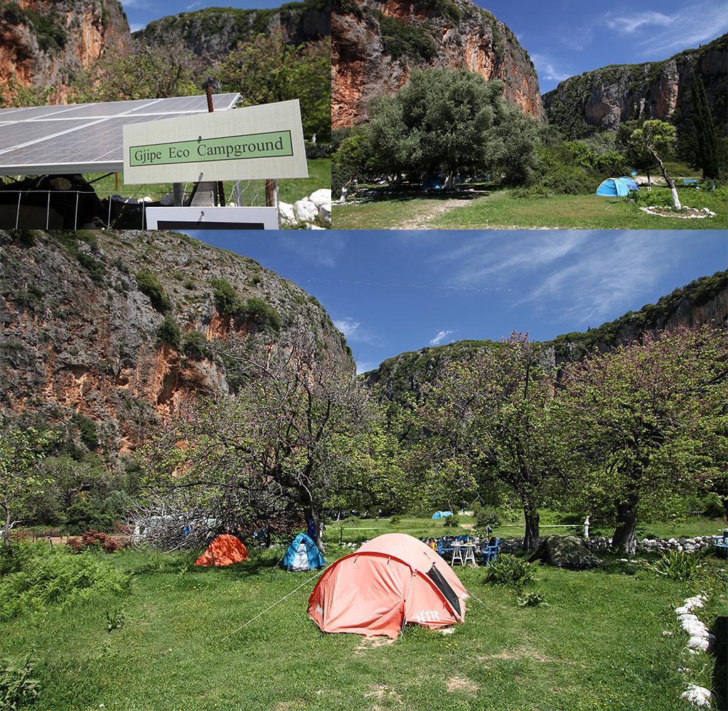 Gjipe camping