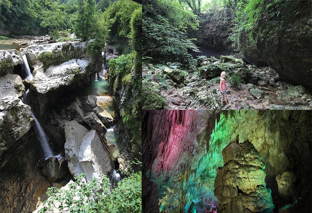 Grotten en Canyons bij Kutaisi