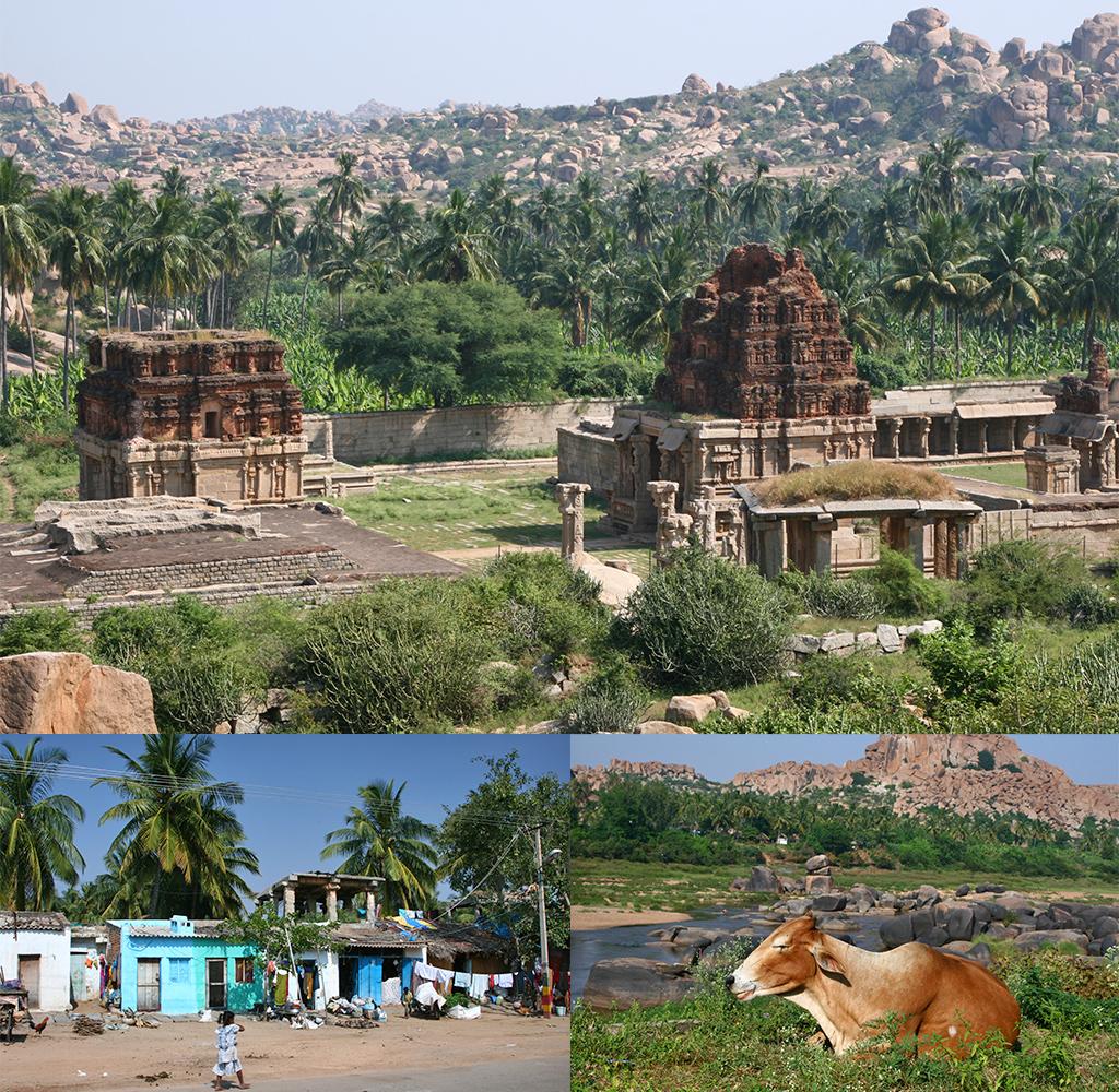 Hampi route Zuid-India