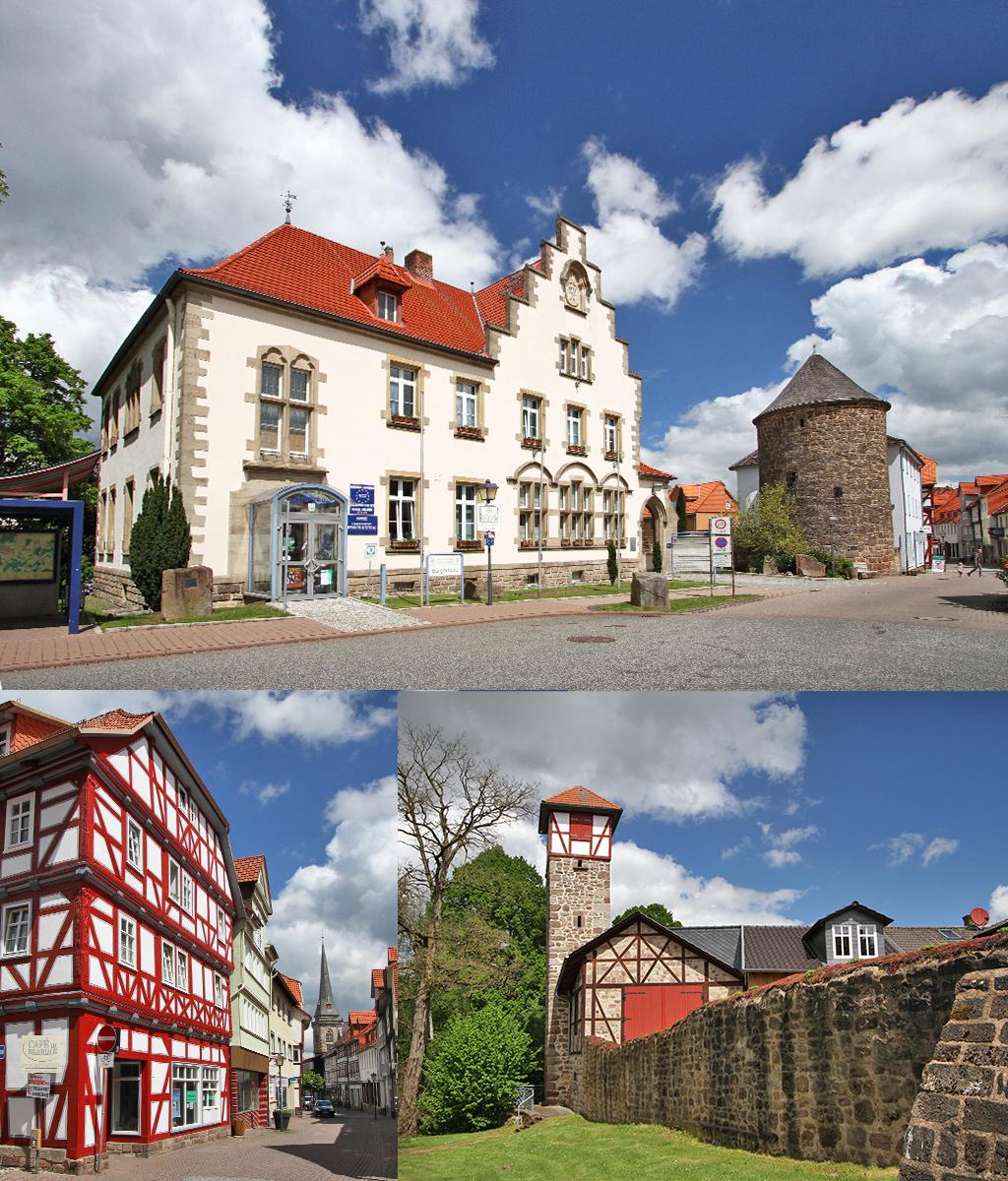 Hessisch Lichtenau rondom het Rathaus