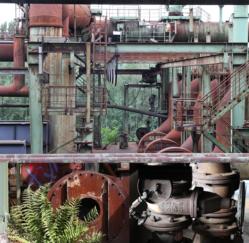 In landschaftspark Duisburg-Nord gaan staal en natuur samen