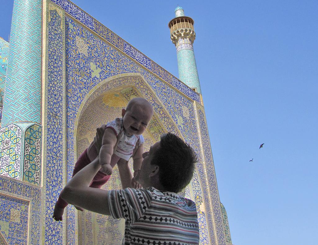 Iran met kinderen - baby