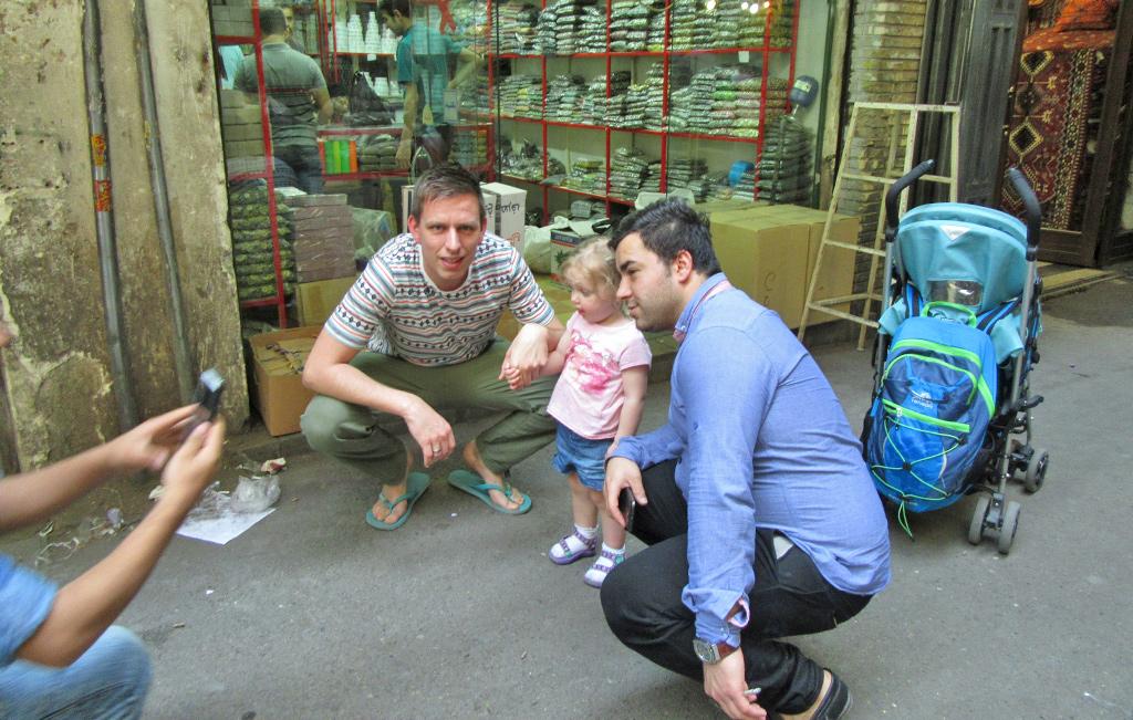 Iran met kinderen - op de foto