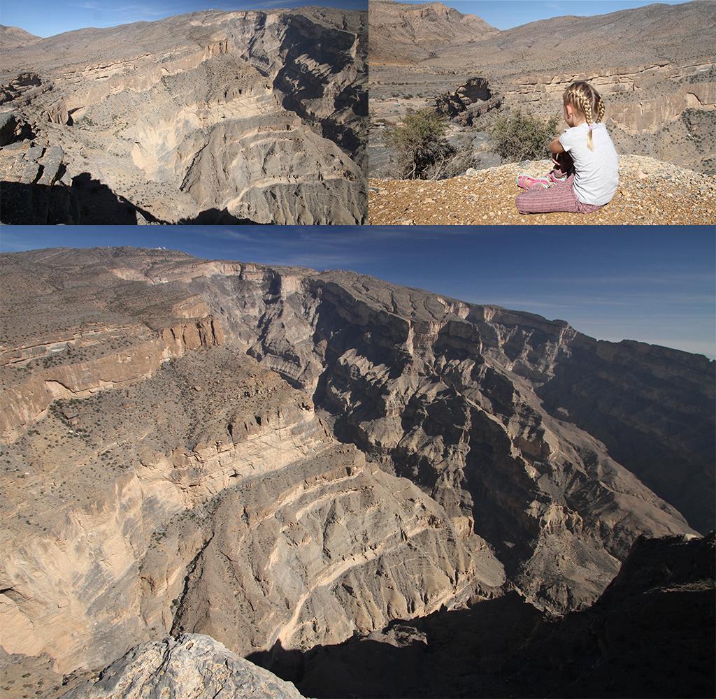 Jebel Shams boven de afgrond