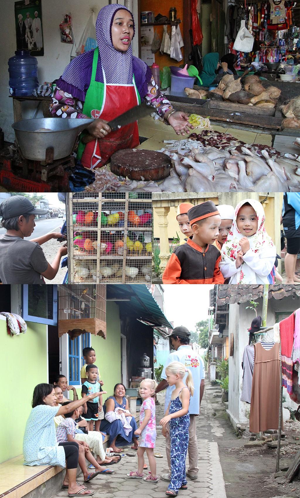 Kalibaru markt en woonwijk