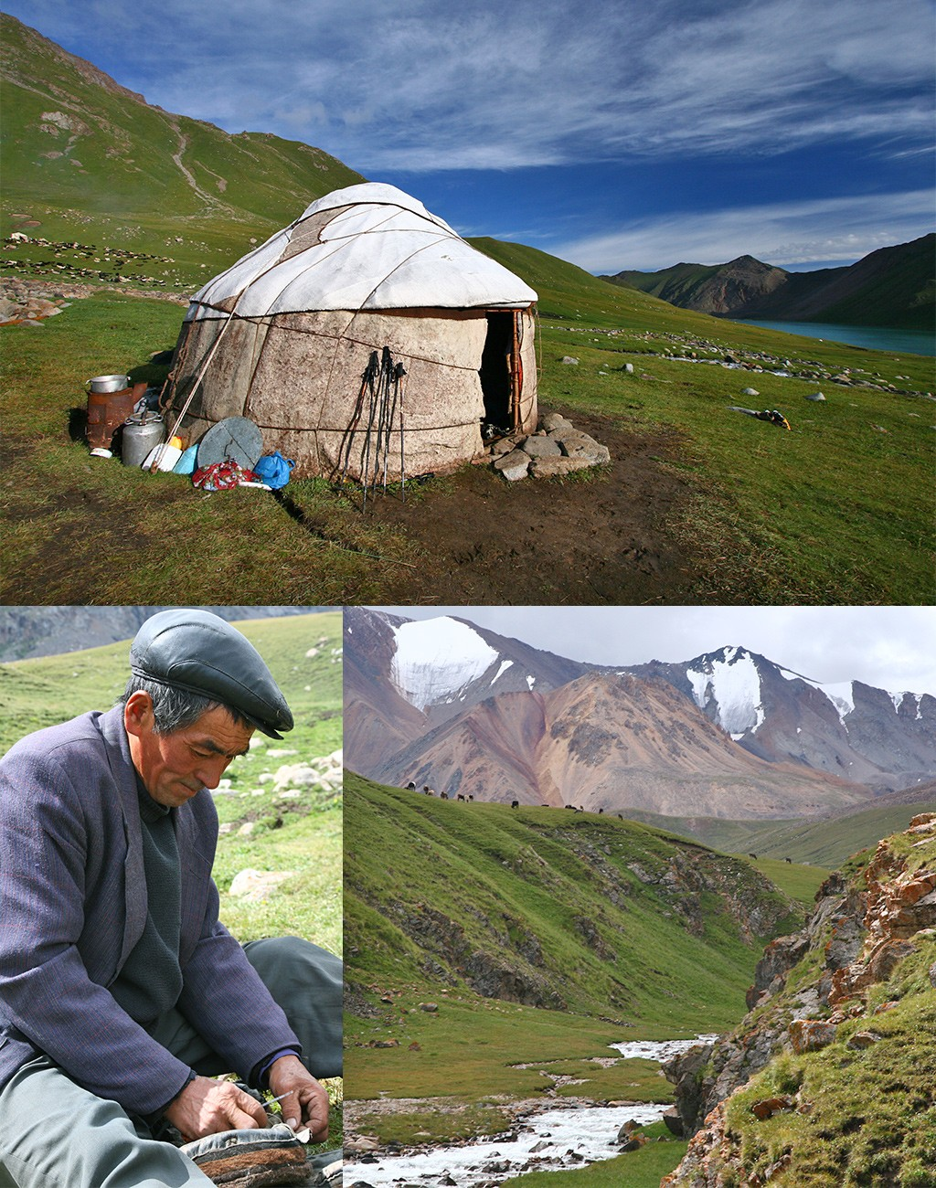 Kirgizië slapen bij nomaden