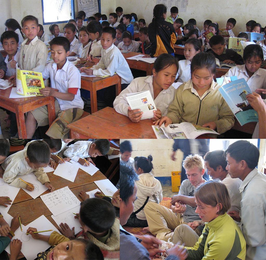 Laos locals helpen