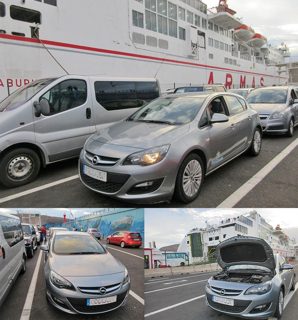 Lege accu bij de boot van Tenerife naar La Gomera