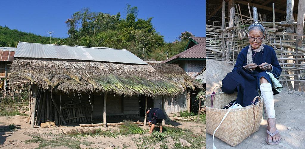 Lenten dorpje in Noord Laos