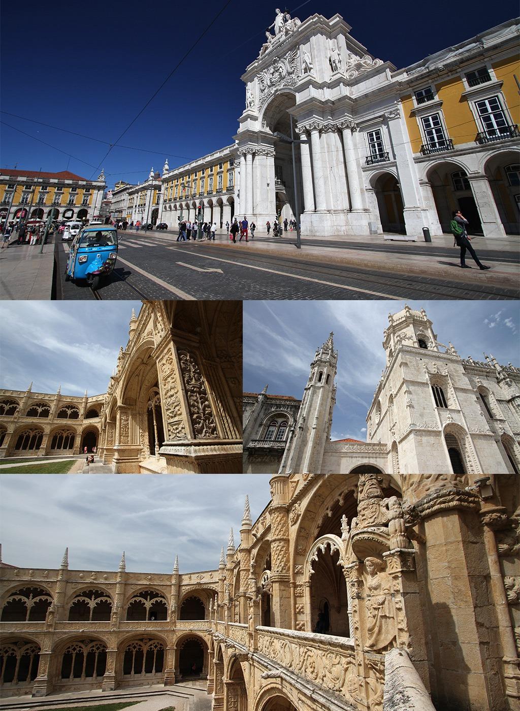 Lissabon Mosteiro Jeronimos en Praça do Comércio