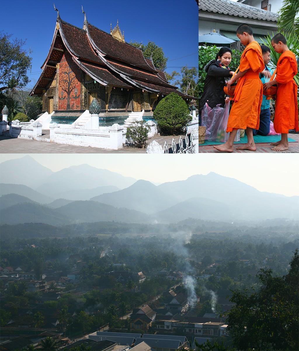 Luang Prabang op elke route Laos