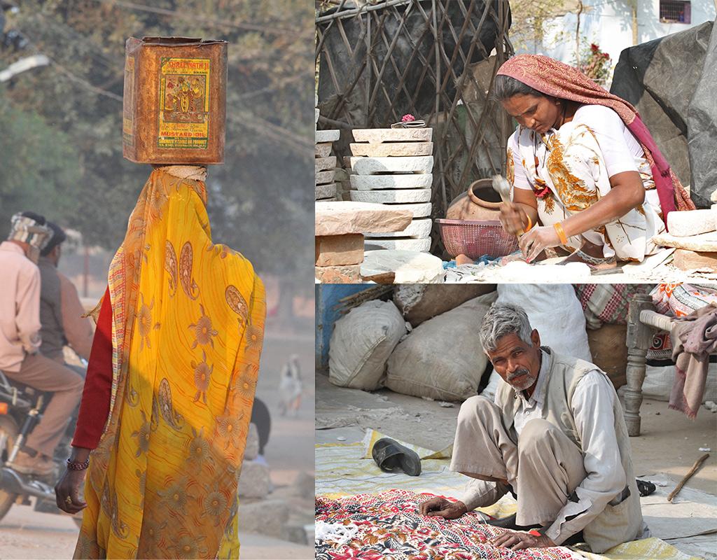 Madhya Pradesh aan de kant van de weg