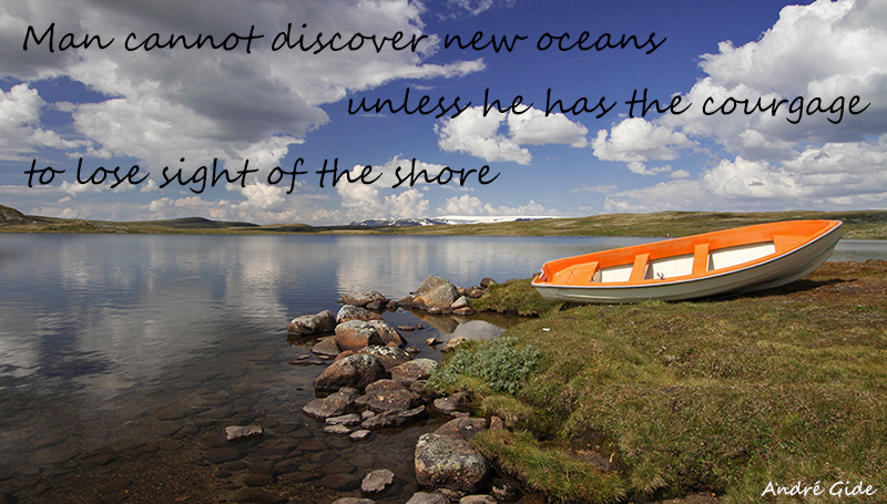 Man cannot discover new oceans unless he has the courage to lose sight of the shore – André Gide