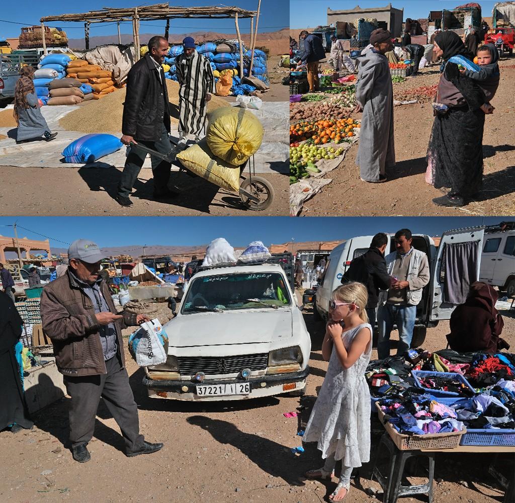 Marokko Boumalne weekmarkt