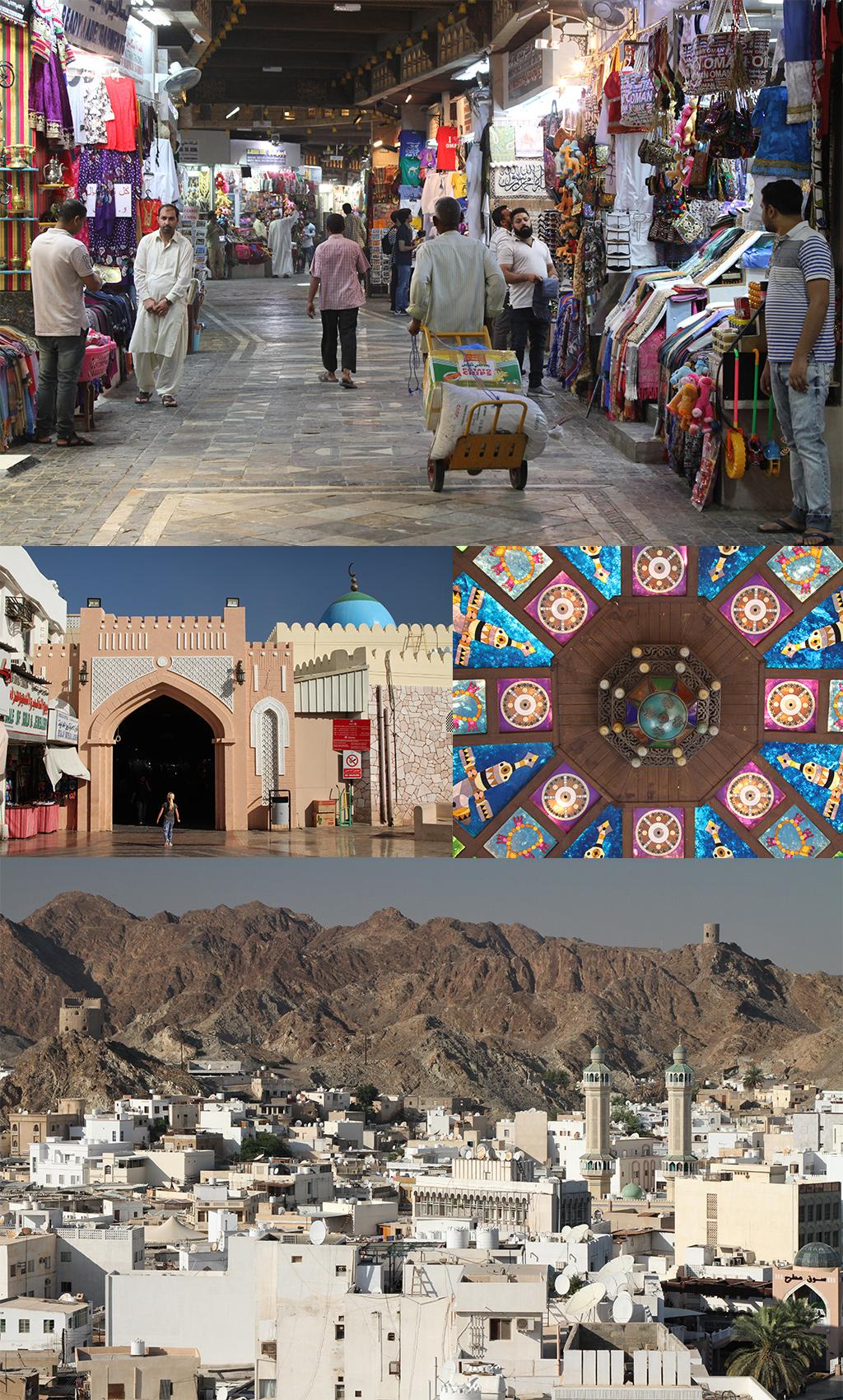 Muscat Matrah souk en fort