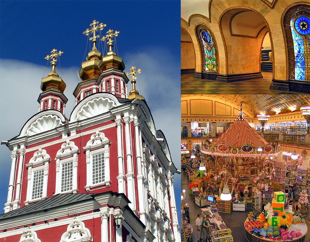 Novodevitsji Klooster en Detski Mir Moskou
